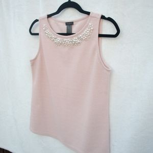 Pink Pearl Shell Top | Ann Taylor| S